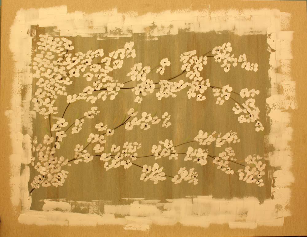 Flores - Cuadros con tela de saco ...
